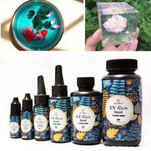 10-25-60-100g-Art-Crafts-Ornament-UV-Resin-Solar-Cure-Jewelry-DIY-Crystal-Epoxy