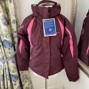 Trespass UK 12 purple varse ski sporting jacket walking warm water windproof J30