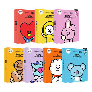 MEDIHEAL-X-BTS-Face-Point-Mask-Sheet-4ea-Bookmark-Postcard-7Types