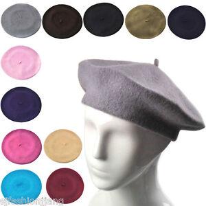 Plain-Beret-Hat-100-Wool-French-Beret-Winter-Autumn-Women-Girls-Fashion-Hats