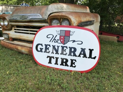 Antique Vintage Style General Tire Sign