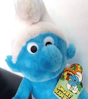 Smurf Bean Bag Plush Animation Character Toy Schleich Peyo Vintage 1979