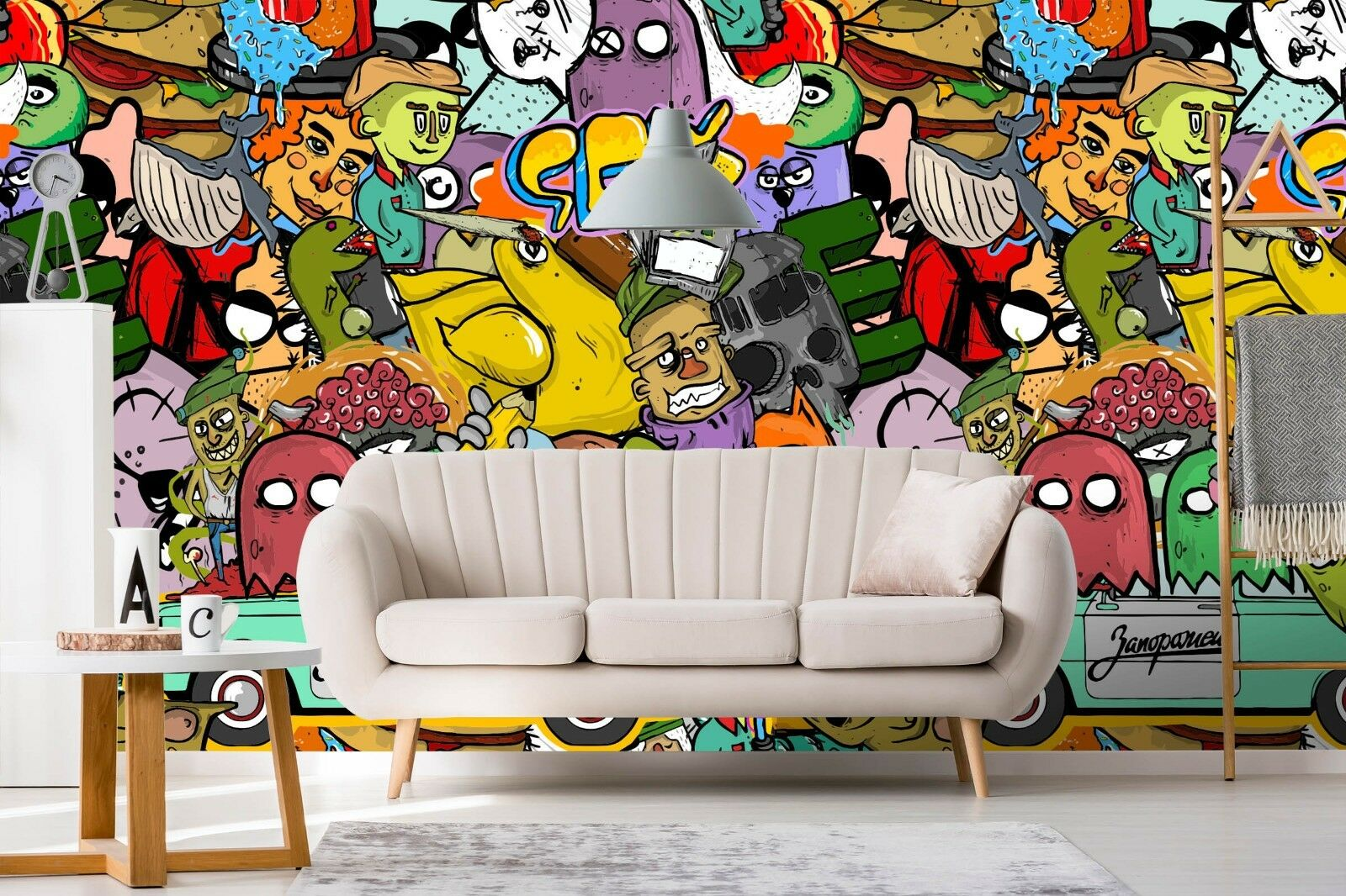 3D Hand Painted Car 34 Wall Paper Exclusive MXY Wallpaper Mural Decal Indoor