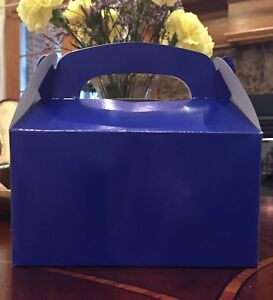 15 BLUE PARTY FAVOR TREAT BOXES BAG GREAT FOR BIRTHDAYS WEDDING  BABY SHOWER