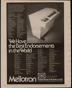 1973 Best Mentions Dans Le Monde Mellotron Ad-afficher Le Titre D'origine Valeur Formidable