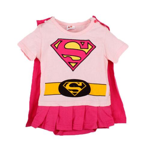 Baby Boys Girls Superhero Romper Bodysuit Jumpsuit Fancy Party Costume Toddler