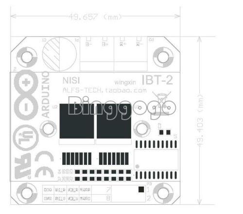 Double BTS7960B DC 43A Stepper Motor Driver H-Bridge PWM For Arduino smart Car