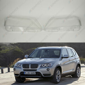 Details about BMW X3 F25 Pre LCI OEM Headlight Glass Headlamp Lens Plastic  Cover (PAIR)