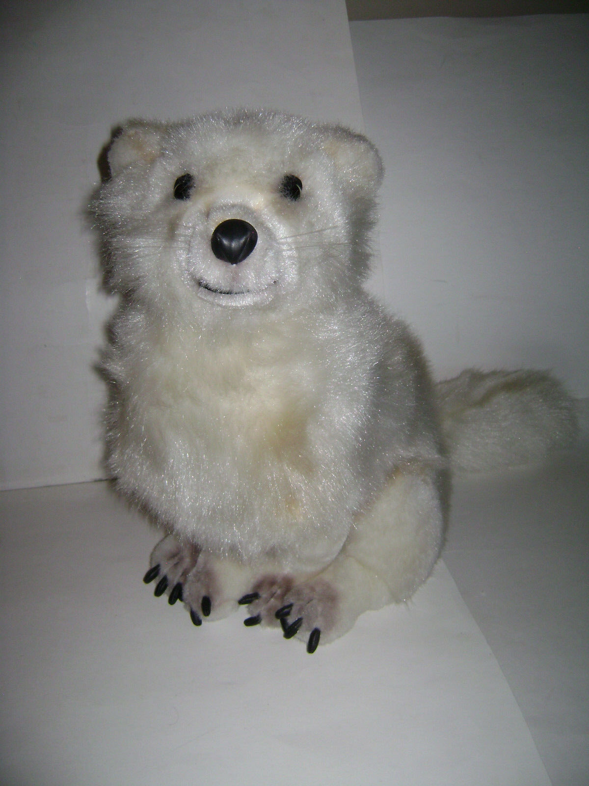 DISCOVERY CHANNEL REALISTIC bianca SITTING ARCTIC FOX 25  PLUSH STUFFED ADORABLE