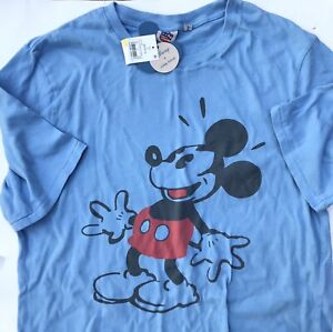 a2e468104f Details about NWT Disney MED tee Shirt Mickey Mouse Junk Food Blue Target