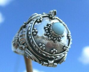 Larimar-Gift-Ring-Box-zum-Offnen-Gr-17-5-Silber-925