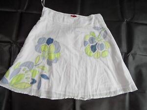 2e91c2781a MONSOON Skirt Size 20 White Cotton Circle Midi Blue & Green Floral ...