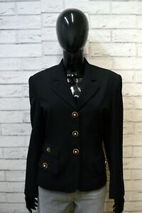 Giacca-SPORTSTAFF-Blu-Donna-Jacket-Woman-Taglia-Size-M-Blazer-Lana-Jacke