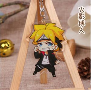 Naruto Uzumaki Naruto acrylic Keychain Key Ring Two faces Bag Ornament Keyring