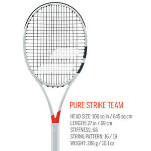 16d964df7 Babolat Pure Strike Team Tennis Racquet with Cover NEW FREE SHIPPING ...
