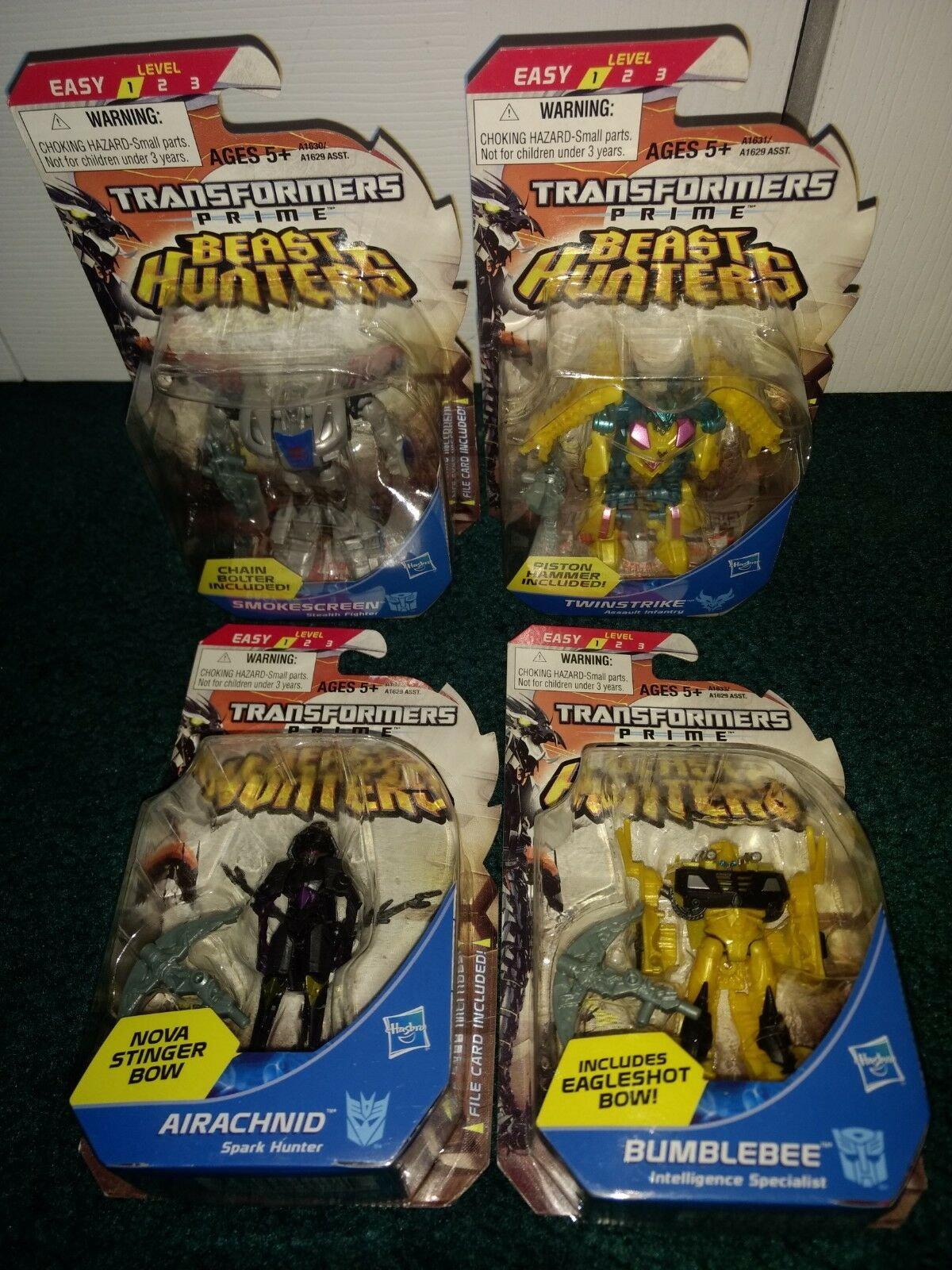 Transformers Prime Legends MISP  LOT Smokescreen Twinstike Airachnid Bumblebee