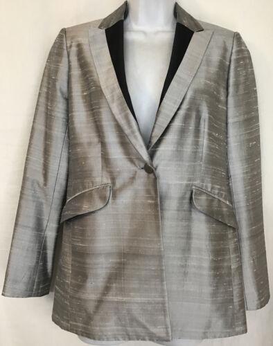 rag and bone  Suit Jacket silver gray silk peak s… - image 1