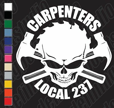 Union Carpenter Skull Hammers Customizable Number Vinyl