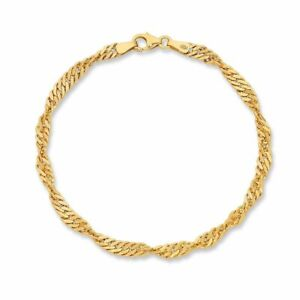 Bevilles 9ct Yellow Gold Silver Infused Bracelet
