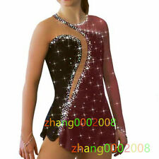 Figure Skating Dress.Competition Ice Skating Dress /Dance Baton Twirling Costume