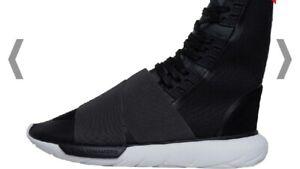 Y-3-Qasa-Boot-Adidas-Yohji-Yamamoto-Charcoal-Melange-Core-Black-Mens-UK-Size-7