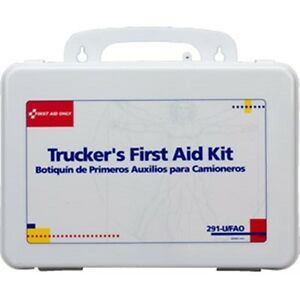Trucker's First Aid Kit (Plastic) 16-Unit, 88-Piece LOWEST PRICE! Great Gift