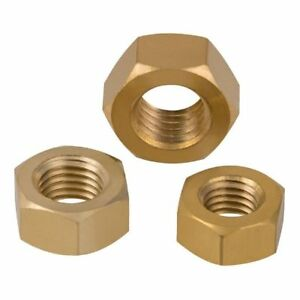 SOLID-BRASS-FULL-HEX-NUTS-FOR-BOLTS-amp-SCREWS-M2-2-5-3-4-5-6-8-10-12-16-20-24