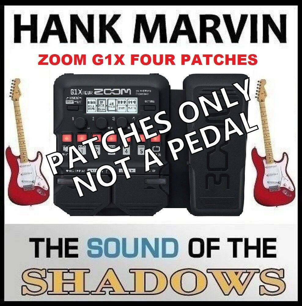 ZOOM G1X FOUR ART D'ECHO THE SHADOWS ECHO SOUND (settings only) NOT A PEDAL 1