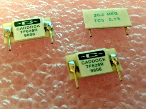 20 meg Ultra-Precision Film TF626R-20.0meg-0.1/% CADDOCK RESISTOR 5PPM 3 PIECES