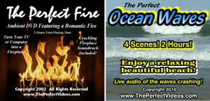 Details about (2) DVD Combo Set The Perfect Fire Virtual FIREPLACE & Ocean  Waves Ambient Video