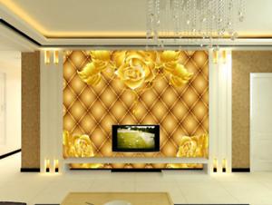 3D goldene Blätter pinkn 5 Tapete Tapeten Mauer Foto Familie Tapete Wandgemälde