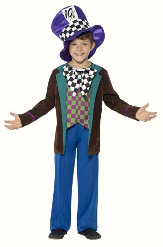 Mad Hatter Childrens fancy dress costume outfit  Deluxe World Book Day Boys