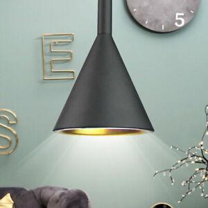 Dettagli su Lampada a Sospensione Camera da Letto Naturale Faretto Cono  Alluminio Big Luce