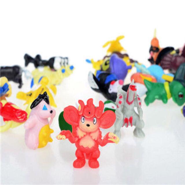 144Pcs Pokemon Monster Cute Mini Figure Action Figurine Toys Gift Random 2-3cm