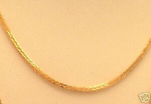 SPARKLING-Solid-18k-Yellow-Gold-Square-Wheat-18-034-Chain-2-2g-ITALIAN-1mm