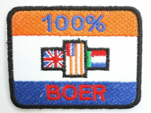 "South Africa Old Flag Boer 100/% Iron On Sew On Embroidered Patch 2.5/""x2/"""
