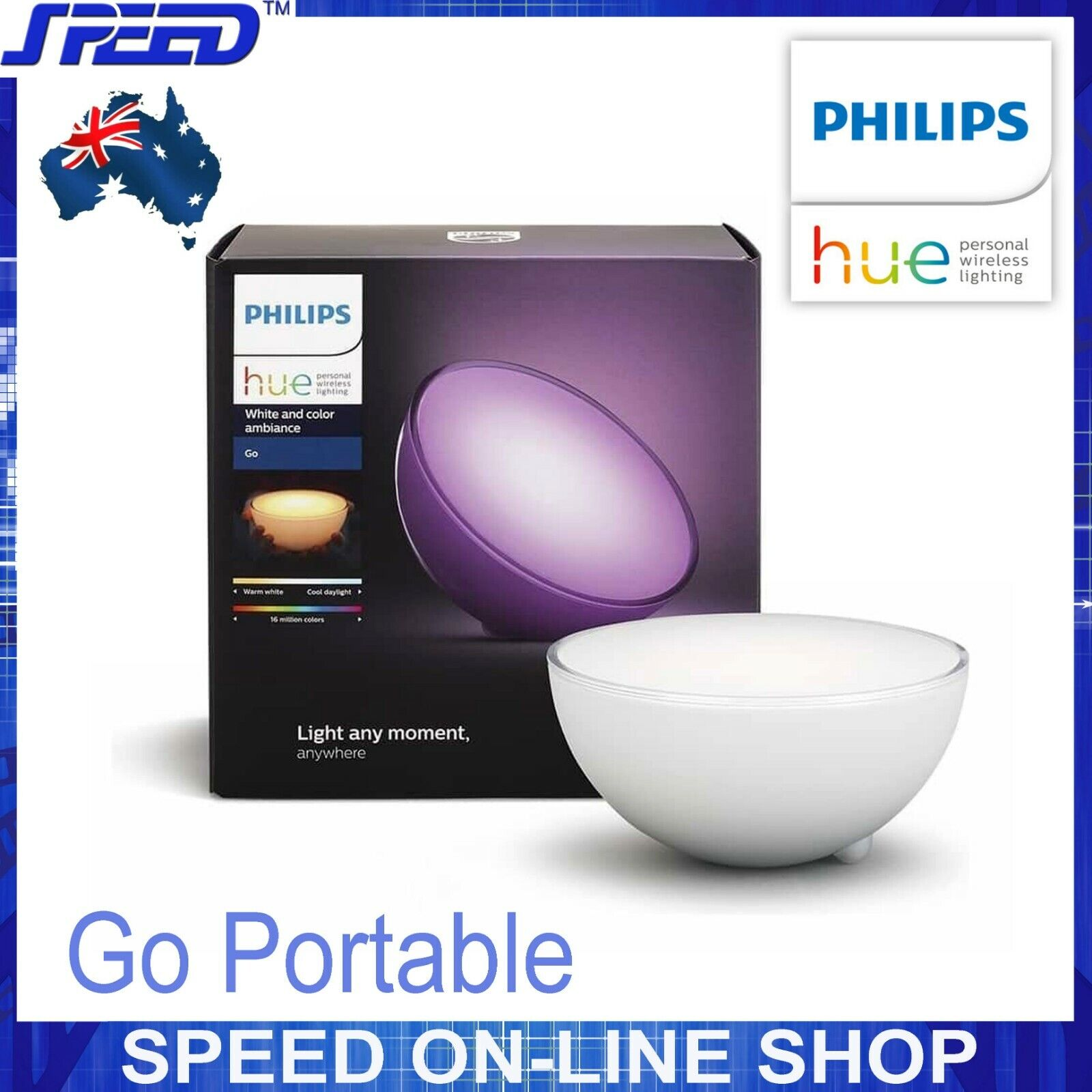 PHILIPS Hue - Go Portable - Weiß and Farbe Ambiance - 16 Million Farbes LED