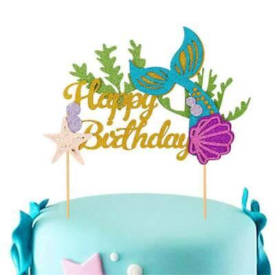 Fantastic Gold Glitter Mermaid Letters Flag Banner Cake Topper Happy Birthday Cards Printable Opercafe Filternl