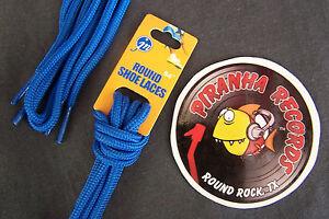 Blue-Thin-Round-54-034-x-1-8-034-3-8-034-JN-Shoelaces-Shoe-Strings-Piranha-Records