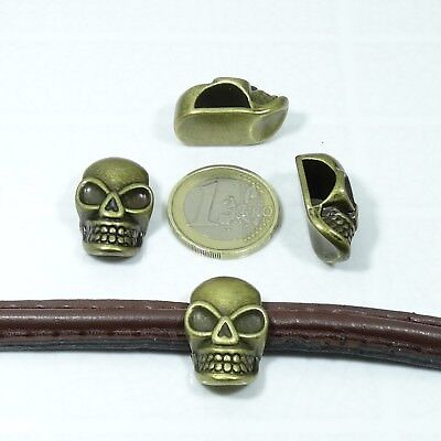 16 Abalorios 17mm T204A Dorados Para Cuero Media Caña Cuir Cuoio Leather Pelle