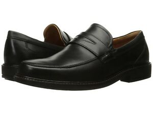 Ecco Men's 621184 Holton Black Leather Penny Loafer Shoe