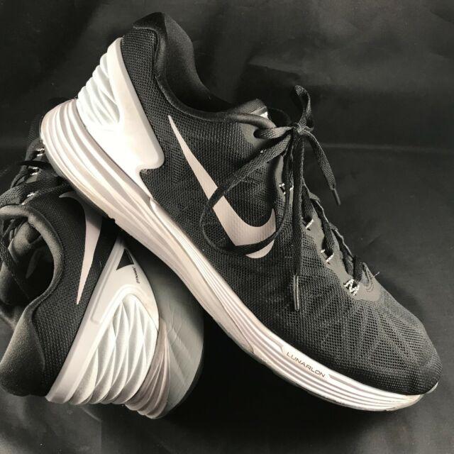half off cd82c 0e7a4 Nike Lunarglide 6 Black Light Grey Mens Sz 13 US 47.5 EUR 654433 001