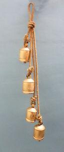 Antique Look Wind Chime Bell Indoor Outdoor Patio Garden Decor India Metal Craft