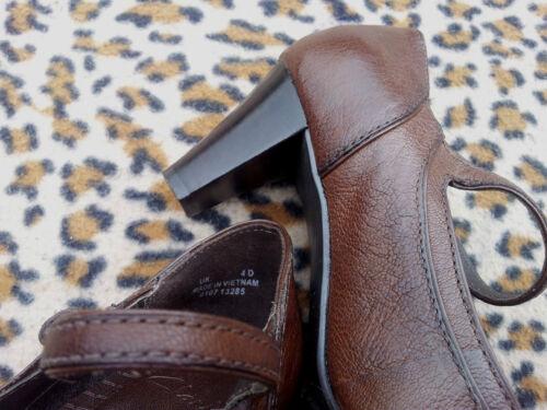 marrone Uk pelle in Scarpe Clarks taglia 37 4 Eu v4zWxn