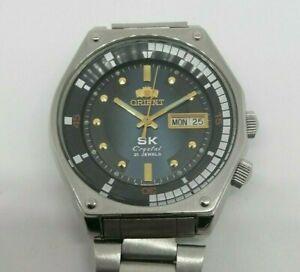 Orologio-da-polso-uomo-Orient-SK-Crystal-GIAPPONE-AUTOMATICO-21-Jewels-Vintage-Revisionata