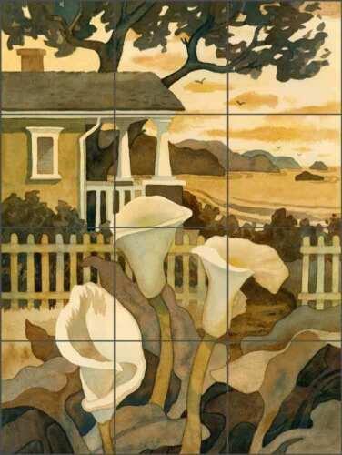 Landscape Tile Backsplash Robin Wethe Altman Art Ceramic Mural RWA029