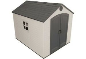 Details about New Lifetime 6405 8x10 Storage Shed Kit Plastic Outdoor Yard  Building + Floor