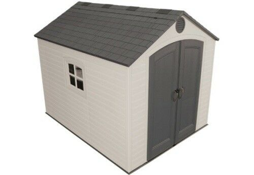 New Lifetime 6405 8x10 Storage Shed Kit Plastic Outdoor Yard Building +  Floor