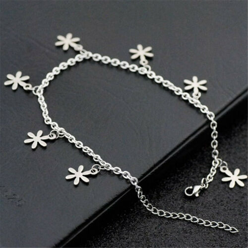 Stainless Steel Silver Butterfly Dolphin Clover Anklet Ankle Foot Chain Bracelet