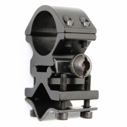 Metal Rail Clip 25mm Ring 20mm Gun Mount Tactical Flashlight Laser Torch Bracket